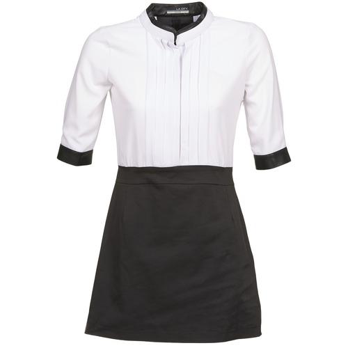 textil Mujer vestidos cortos La City COLUMBA Negro / Blanco