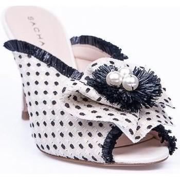 Zapatos Mujer Chanclas Sacha London Zueco topitos Blanco