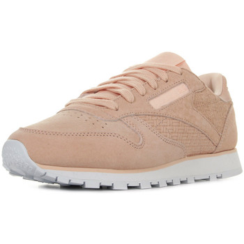 Zapatos Mujer Zapatillas bajas Reebok Sport Classic Leather Woven Emb Rosa