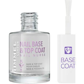 Belleza Mujer Esmalte para uñas Rimmel London Nail Nurse Care Base & Top Coat 5en1  12 ml