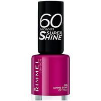 Belleza Mujer Esmalte para uñas Rimmel London 60 Seconds Super Shine 335-gimme Some Of That