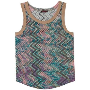 textil Mujer Tops / Blusas Custo Barcelona Top I See You Wav Azul Triangulos de Azul