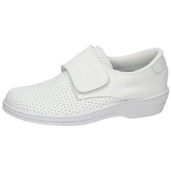 Zapatos Hombre Zapatillas bajas Percla Zueco de piel velcro BLANCO