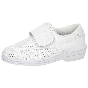 Zapatos Mujer Zapatillas bajas Percla Zueco de piel velcro BLANCO