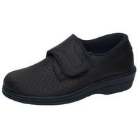 Zapatos Mujer Zapatillas bajas Percla Zueco de piel velcro AZUL
