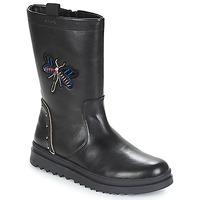 Zapatos Niña Botas urbanas Geox J GILLYJAW GIRL Negro