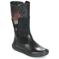 Zapatos Niña Botas urbanas Geox J HADRIEL Negro