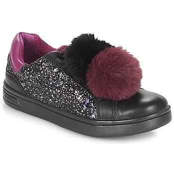 Zapatos Niña Zapatillas bajas Geox J DJROCK GIRL Negro / Violeta