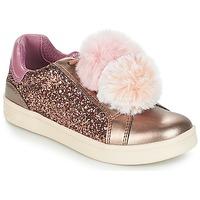 Zapatos Niña Zapatillas bajas Geox J DJROCK GIRL Beige / Rosa