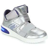 Zapatos Niña Zapatillas altas Geox J XLED GIRL Plata