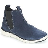 Zapatos Niño Botas de caña baja Geox J XUNDAY BOY Marino