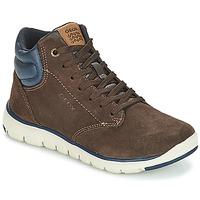 Zapatos Niño Zapatillas altas Geox J XUNDAY BOY Marrón / Marino