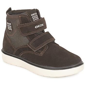 Zapatos Niño Zapatillas altas Geox J RIDDOCK BOY Marrón / Marino