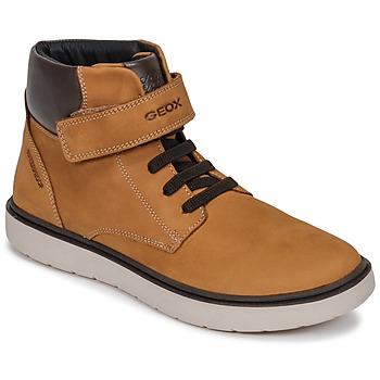 Zapatos Niño Zapatillas altas Geox J RIDDOCK BOY WPF Amarillo