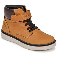 Zapatos Niño Zapatillas altas Geox J RIDDOCK BOY WPF Marrón