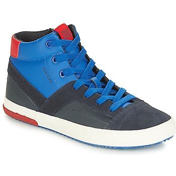 Zapatos Niño Zapatillas altas Geox J ALONISSO BOY Marino / Rojo