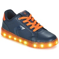 Zapatos Niño Zapatillas bajas Geox J KOMMODOR BOY Marino / Naranja