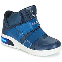 Zapatos Niño Zapatillas altas Geox J XLED BOY Marino