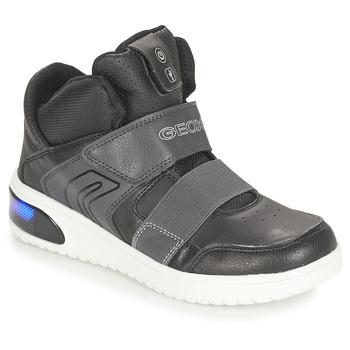 Zapatos Niño Zapatillas altas Geox J XLED BOY Negro