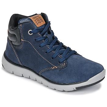 Zapatos Niño Zapatillas altas Geox J XUNDAY BOY Marino / Negro