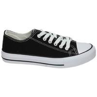 Zapatos Mujer Zapatillas bajas Demax Lonas negras Negro