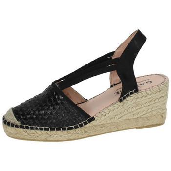 Zapatos Mujer Alpargatas Garque Alpargatas con cuÑa Negro