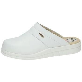 Zapatos Hombre Zuecos (Clogs) Dchus Zuecos de piel Blanco