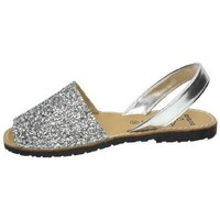 Zapatos Mujer Sandalias Avarca Menorquina Menorquina de piel Plata