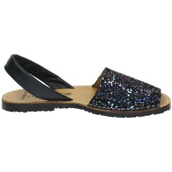 Zapatos Mujer Sandalias Avarca Menorquina Menorquina de piel Azul