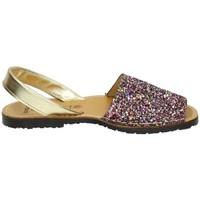 Zapatos Mujer Sandalias Avarca Menorquina Menorquina purpurina Multicolor