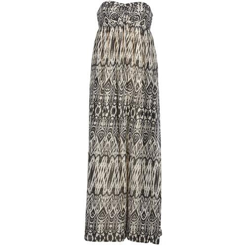 textil Mujer vestidos largos Le Temps des Cerises GOTA Gris / Blanco