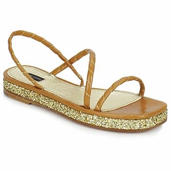 Zapatos Mujer Sandalias Marc Jacobs MJ16405 Marrón / Gold