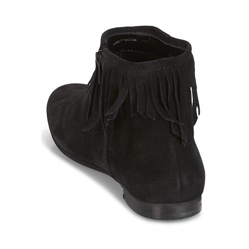 De Baja Negro Mujer Zapatos Coachella Botas Caña André vmN8On0w