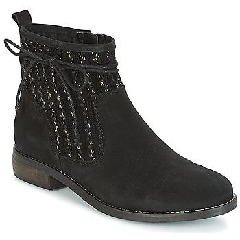 Zapatos Mujer Botas de caña baja André MEXICA Negro
