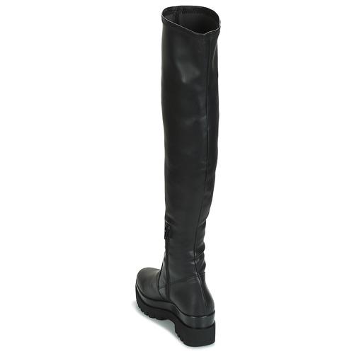 Mujer Zapatos A Negro La André Spicy Rodilla Botas 5jq4ASLc3R