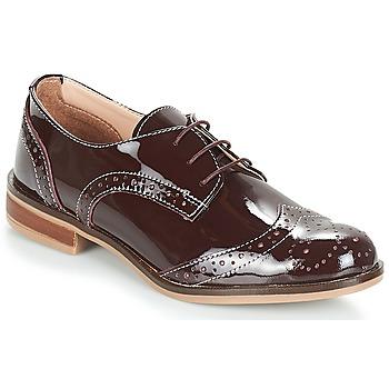 Zapatos Mujer Derbie André PLYMOUTH Burdeo