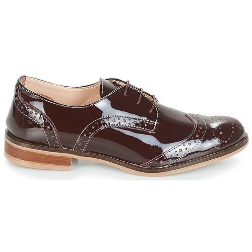 Mujer Derbie Plymouth Burdeo Zapatos André 0wk8nOXP