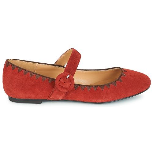 manoletinas Alboroza André Mujer Bailarinas Zapatos Rojo shCtrdQx