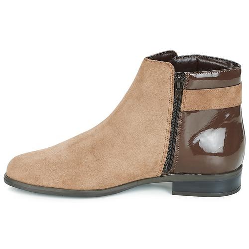 De Zapatos Baja Caña Botas Elfie André Beige Mujer N0wm8vn