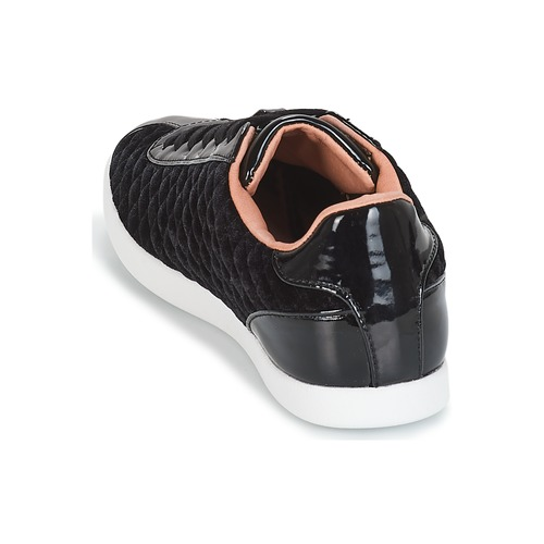 Mujer André Zapatos Velvet Zapatillas Bajas Negro RjAc45Lq3