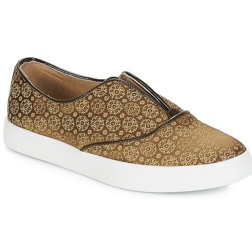 André ROYAUME Kaki - Envío gratis   ! - Zapatos Slip on Mujer