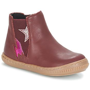 Zapatos Niña Botas de caña baja André MAGENTA Burdeo