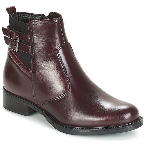 Zapatos Mujer Botas de caña baja André CARLIN Burdeo