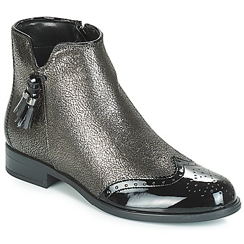 Zapatos Mujer Botas de caña baja André ALINA Bronce / Negro