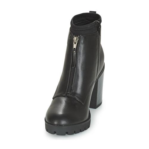 Zapatos Caña Negro Mujer De Botas André Baja Troubadour EHID29WY