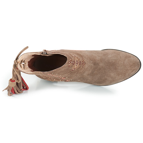 Botines Beige Zapatos André Tzigane Mujer 3JcF1KTl