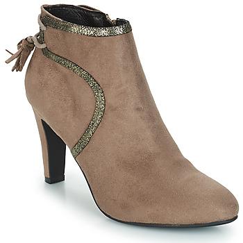 Zapatos Mujer Botas de caña baja André AUREL Beige
