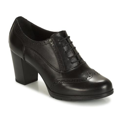 Derbieamp; André Mujer Richelieu Zapatos Capitaine Negro rdoCBxeW