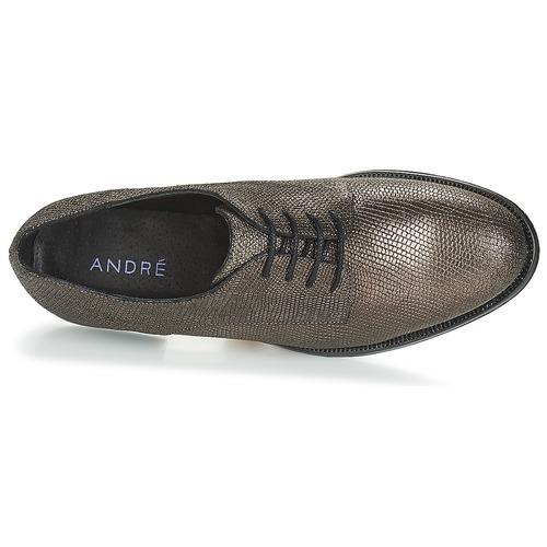 Derbie Mujer André Loukoum Zapatos Bronce CQoredBWx