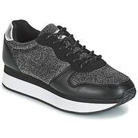 Zapatos Mujer Zapatillas bajas André TYPO Negro / Plata